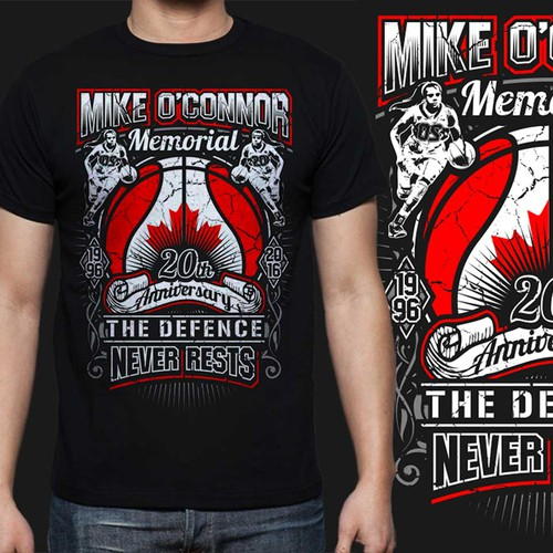 Memorial Basketball Tournament Tee 20th Anniversary | T-shirt contest