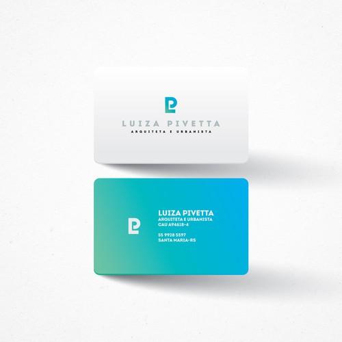 Biz Card For Young And Serious Architect | Cartão de visita para arquiteta jovem e séria. Design por kiwwwi