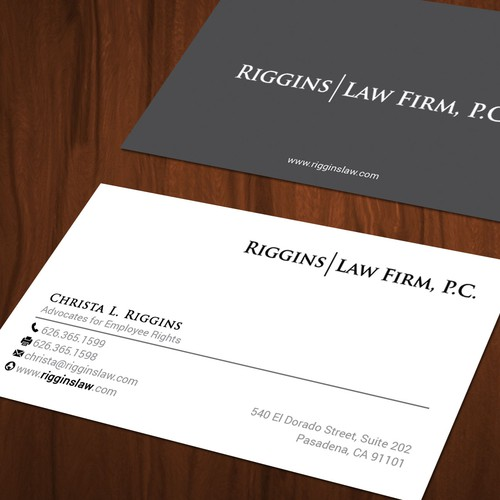 Business card and letterhead for employee rights law firm business runner up design by mahari colourmoves