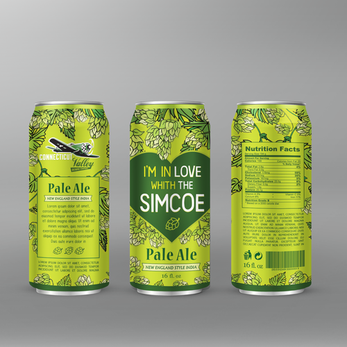 Design a can wrap for our Brewing Company's newest beer! Design by maxgraphic
