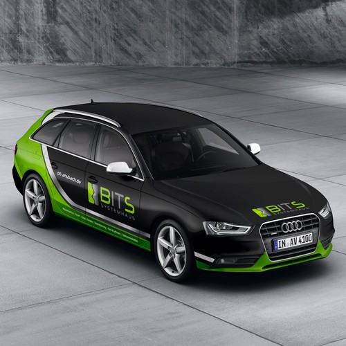 modern car wrapping audi a4 b8 avant - it service | car, truck or
