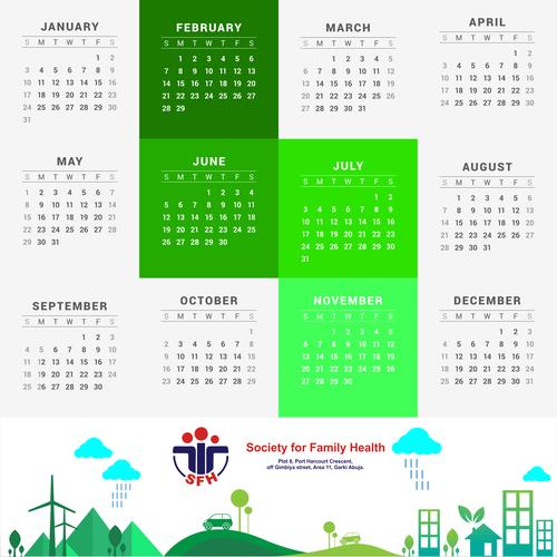 Calendar Design Nigeria : The sfh corporate calendar other art or