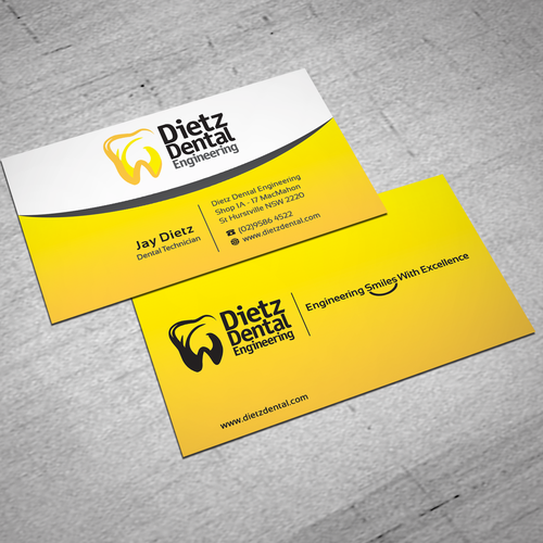 New stationery wanted for dietz dental engineering stationery contest runner up design by anakmami89 reheart Gallery