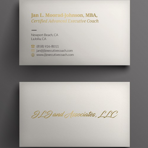 Jlj executive coach business card contest runner up design by kendhie reheart Image collections