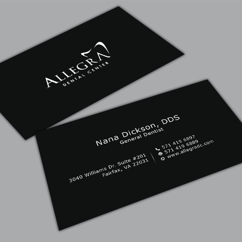 Modern dental practice business cards business card contest runner up design by mahari colourmoves