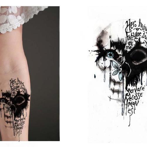 Hip - Dark - Sketch Tattoo Design Needed! Design by stacas