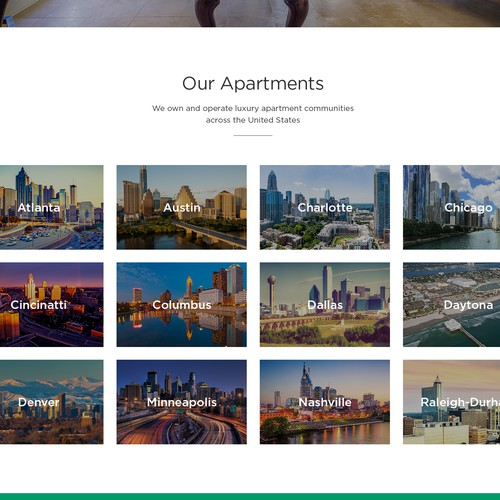 Rent Apartment Website: Luxury Rental Apartment Site Needs A Modern Homepage
