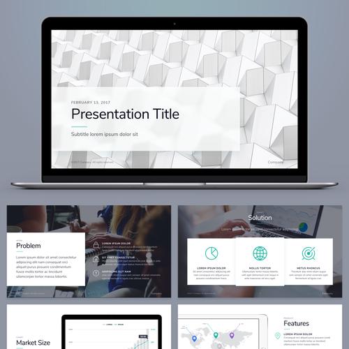 99designs Presentation Template for Startups Design by Sasha Radojevic