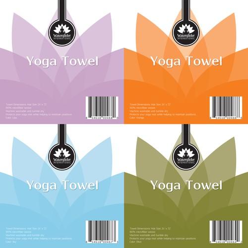 Yoga Towel Label Design