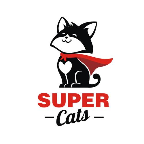 Fun Bold And Creative Logo For Cat Lovers Super Cats Logo Design Contest 99designs