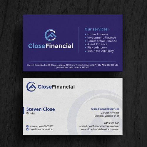 Finance business card business card contest runner up design by kaylee ck colourmoves