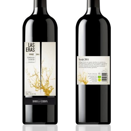 ORGANIC EXCLUSIVE WINE LABEL DESIGN - BODEGA CERRON Design by Ashleyjp