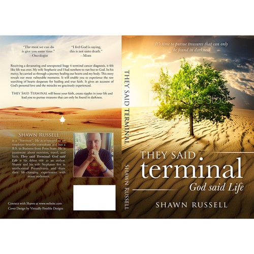 Design book cover for a faith building journey from Terminal