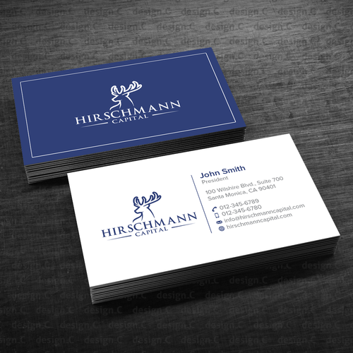 Investment management business card business card contest for Business card management