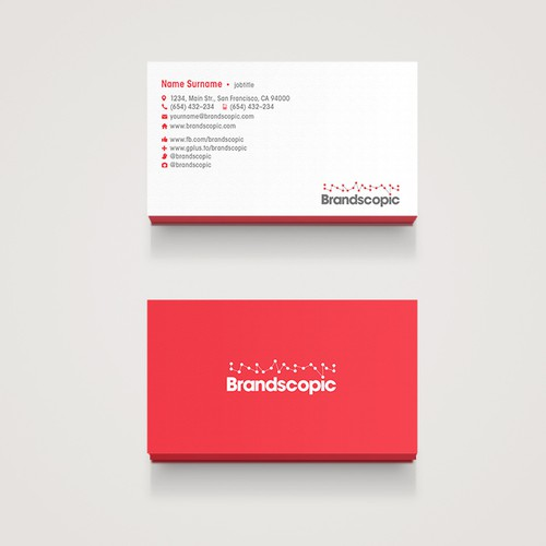 Modern minimalist business cards wanted for marketing tech startup runner up design by freeagent reheart Image collections