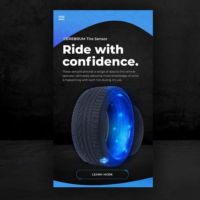 CEREBRUM Tire Sensor App Landing Page | Landing page design