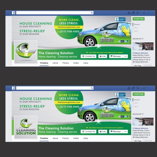 Facebook Cover for The Cleaning Solution  2 More Covers