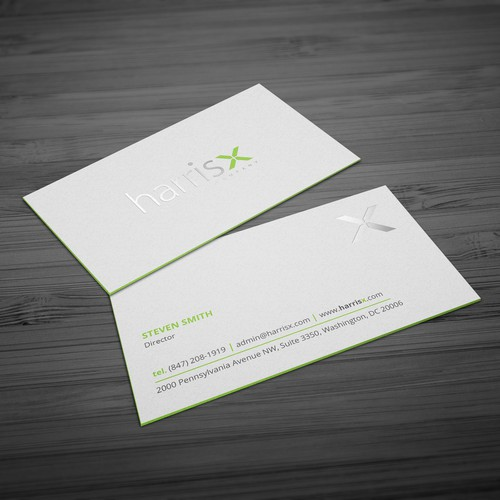 Harrisx business cards concurso carto de visita design finalista por hasanssin reheart Gallery