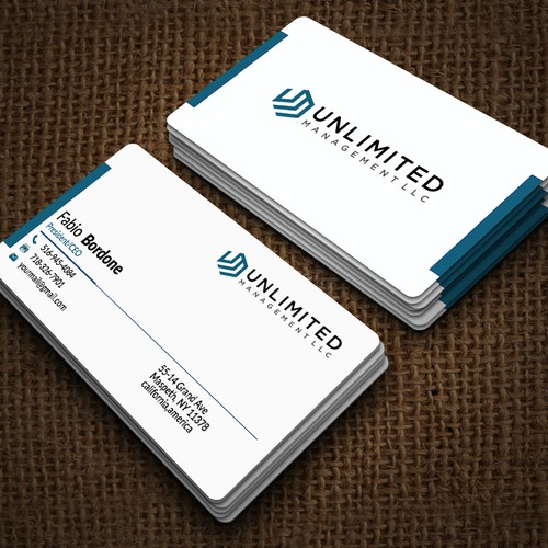 Unlimited business cards business card contest runner up design by hsrifat reheart Gallery