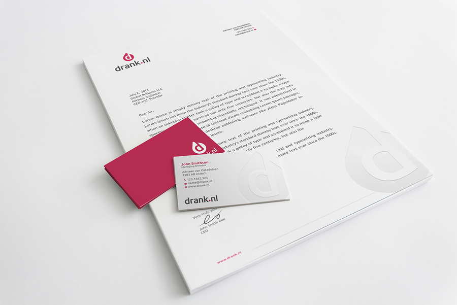 Online liquor store drank.nl business card & letterhead | Business ...