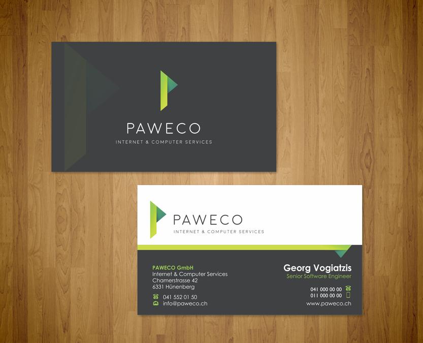 Visitenkarte Für Paweco Gmbh Business Card Contest