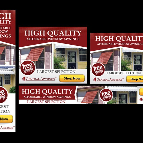 GeneralAwnings com needs new banner ads | Banner ad contest