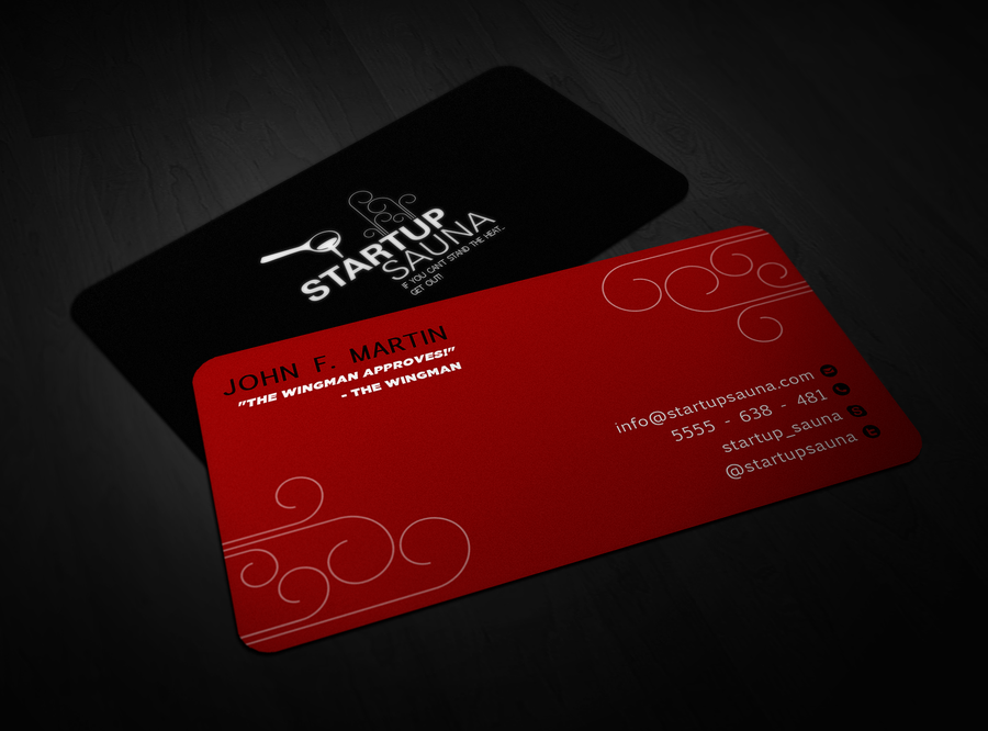 Help Startup Sauna to design new rock-star business cards | Button ...