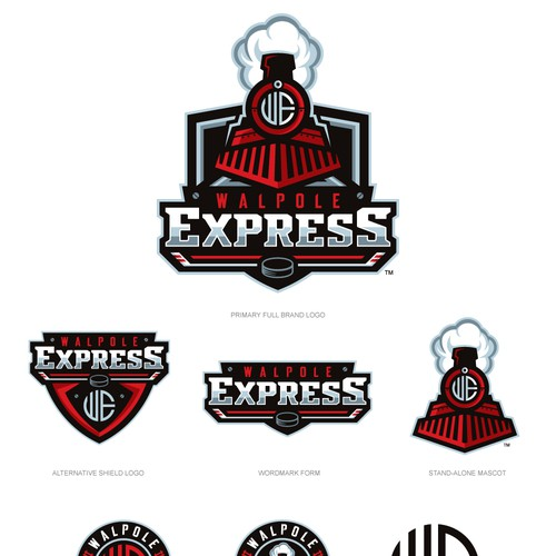 Create A Steam Engine Train Logo For A Hockey Team Logo Design Contest 99designs