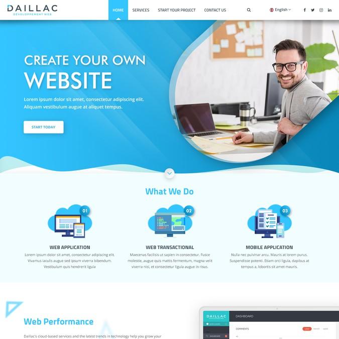 Winning design by WebAppDesigns