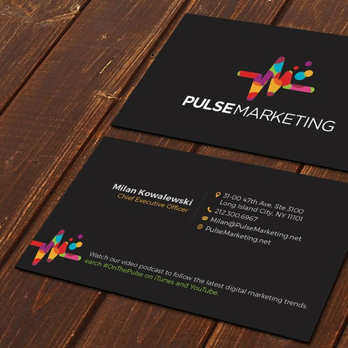 Create eye catching professional business card for digital runner up design by ssdesigns colourmoves