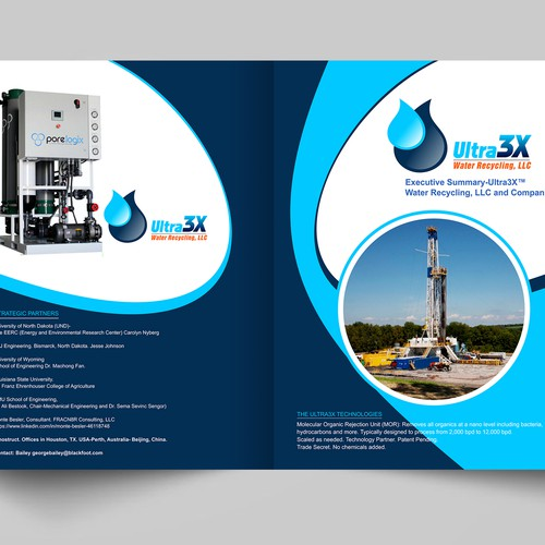 Executive Summary Brochure For Startup Water Recycling
