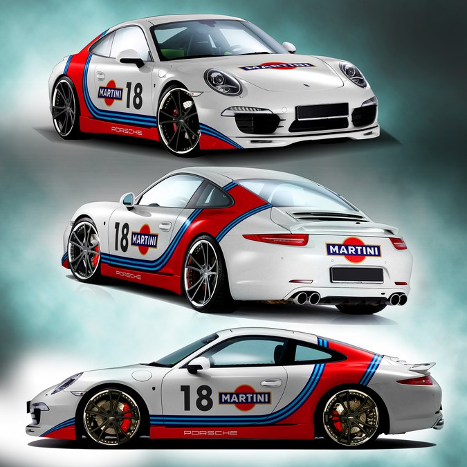 porsche gt3 martini racing car truck or van wrap contest. Black Bedroom Furniture Sets. Home Design Ideas