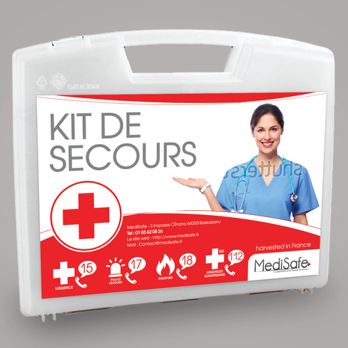 etiquette kit de premiers secours product label contest. Black Bedroom Furniture Sets. Home Design Ideas