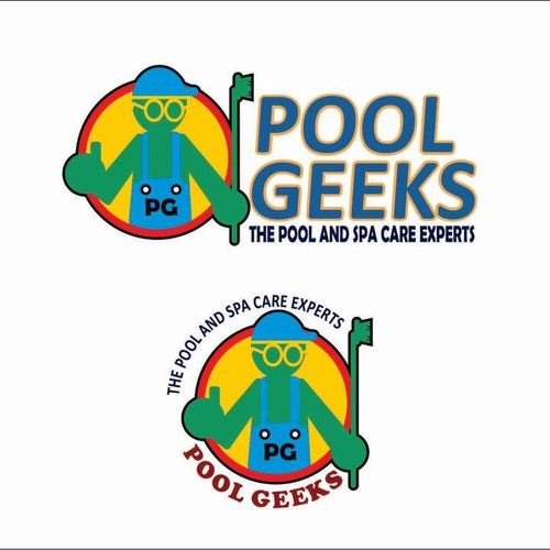 Pool Cleaning Logos : Pool geeks swimming cleaning service needs a winning