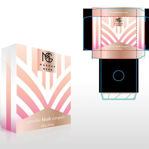 Makeup Geek Blush Box w/ Art Deco Influences Design by Holly McAlister