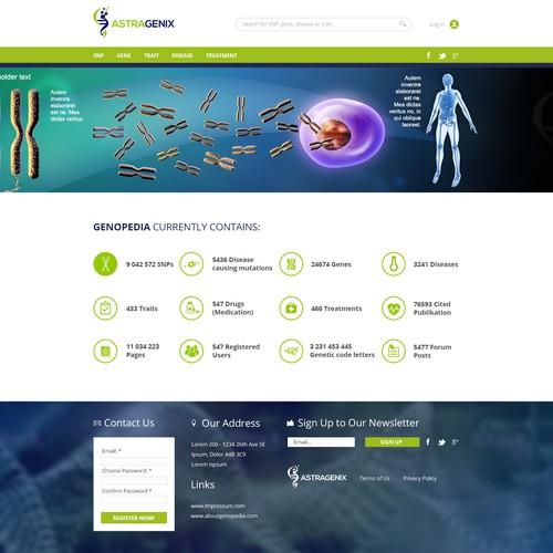 Information Site: Wiki Website For Genetic Information - Design