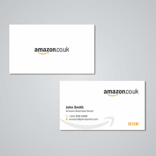 Business card design for amazon business owner business card contest entries from this contest reheart Images