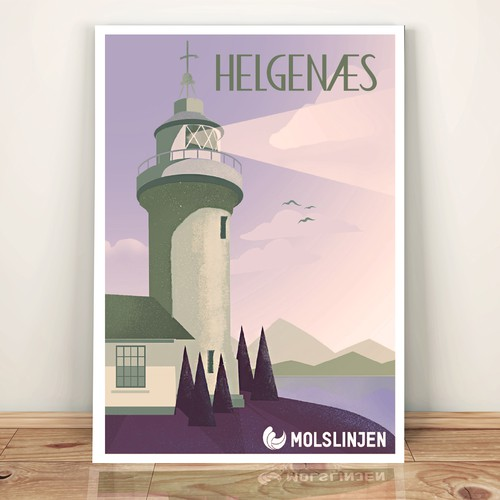 Multiple Winners - Classic and Classy Vintage Posters National Danish Ferry Company Design by Gerardesigner