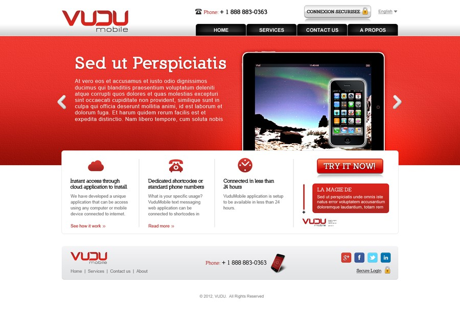 New website design wanted for VuduMobile | Web page design