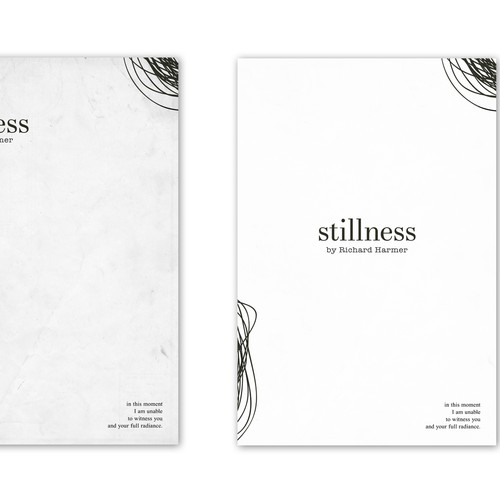 Make Poetry Book Cover Ideas : Create a minimalist book cover design for debut poetry
