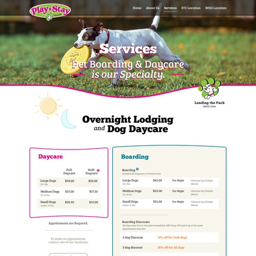 Dog daycare website contest wordpress theme design contest for Dog boarding website