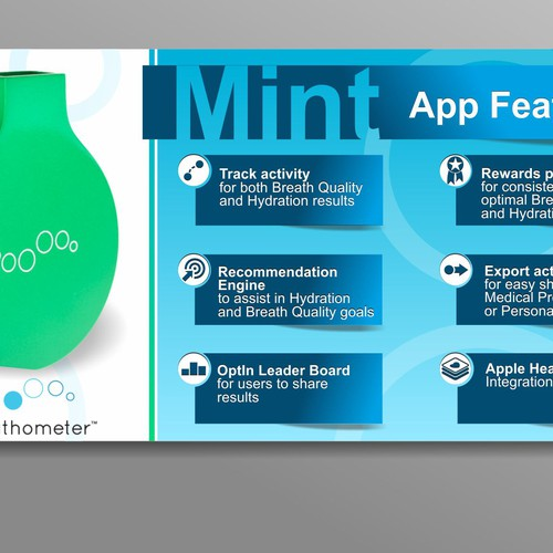 4 HOUR CONTEST - Mint by Breathometer - Indiegogo campaign banner design! Design by AlexCZeh