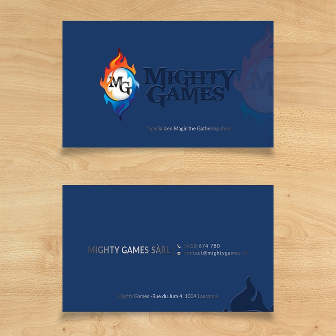 Create a business card for mighty games business card contest winning design by tanlearn colourmoves