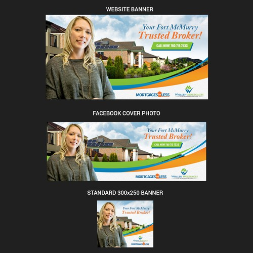 Creative Mortgage Broker Ad For Facebook Sponsered Ad Banner Banner Ad Contest 99designs