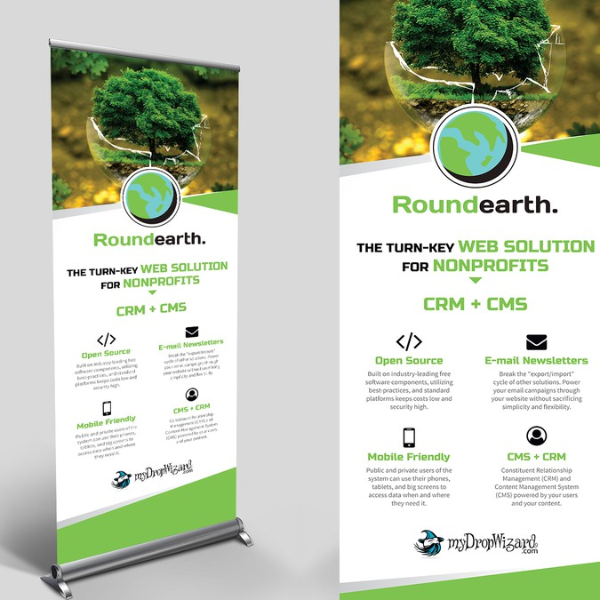 Create An Awesome VERTICAL BANNER For Roundearth.io To Use