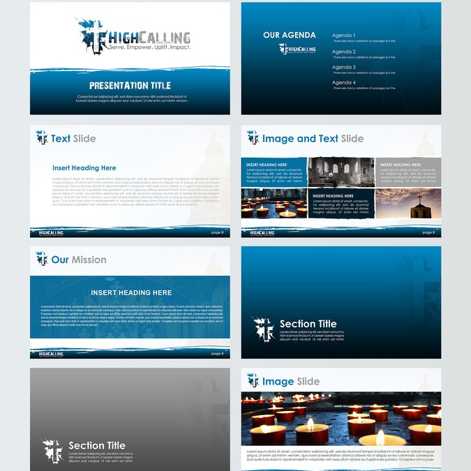 Modern Powerpoint Templates: Design A Fresh And Modern PPT Template For A Modern Church