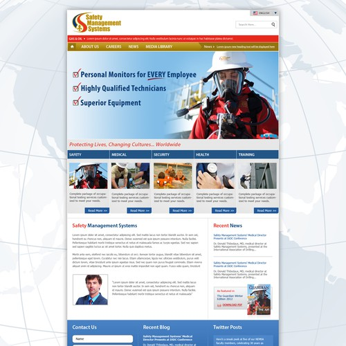Safety Management Systems Needs A New Website Design Web Page Design Contest 99designs
