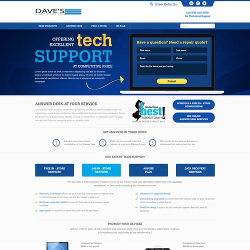 Create A Modern Landing Page For Computer Repair Business