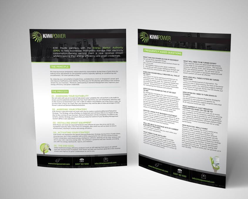 award winning brochure designs - award winning energy efficient company brochure brochure