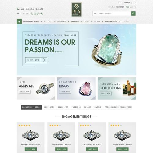 Diseño finalista de webdesignunited